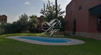 Villa à louer sur Marrakech palmeraie