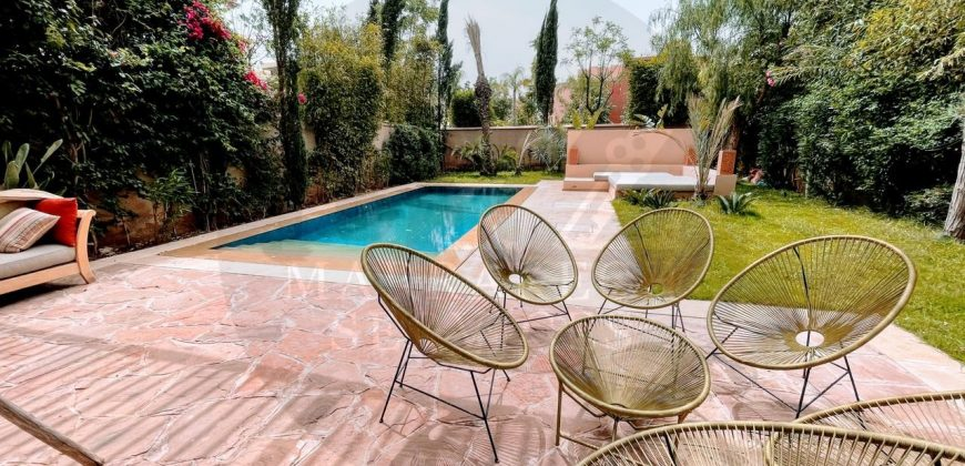 Magnifique villa meublée à louer à Marrakech Maaden