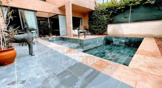 Beautiful contemporary furnished villa for long term rental on the road to Ouarzazate