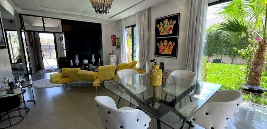 Route de Fès Marrakech belle villa contemporaine plain pied à la vente meublée
