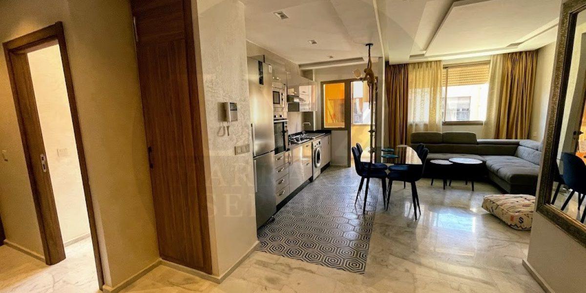 Long-term furnished apartment rental in Guéliz Marrakech